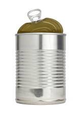 Easy Open Pull Tab Metal Food Can With Top Raised