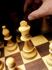 Queen takes King in a Game of Chess