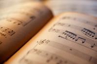 Antique sheet music book