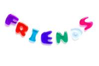 Friends written in jelly letters
