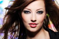 Expressive look of beautiful brunette  woman
