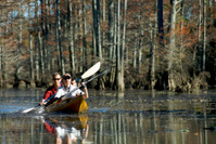 Adult Couple in a Tandem Kayak