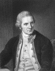 Engraving of English explorer Captain Cook