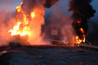 Gasoline Tanker Fire