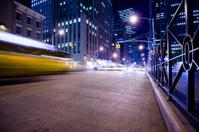 New York Sixth Avenue Night Rush