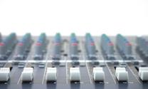 mixing desk faders