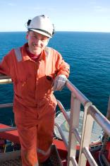 man on oil rig
