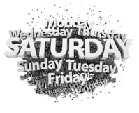 Weekdays concept - Saturday