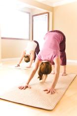 Dos Mujeres Haciendo Yoga En Casa Fotografías de stock - FreeImages.com d98d55211d90