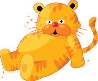 Cute Tiger Cartoon Character
