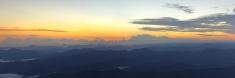 Mountain sunrise panorama