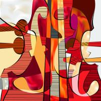 Violino e contrabbasso fotografie stock - Immagini violino a colori ...