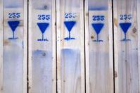 Fragile sign on wooden case