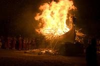 Up Helly Aa Burning Viking Galley Ship