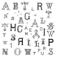 Retro Alphabet Letters