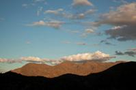 southern Arizona geology: uplifting visible in lit mountains