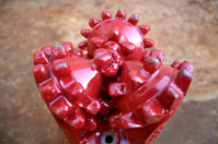 oil rig platform drill bit close up teeth detail