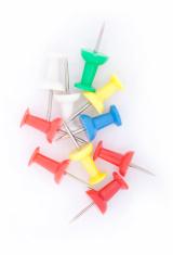 Plastic pushpins