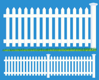 Picket Fence Boundary and Grass