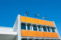 Roof Top Wind Turbine & Solar Panels