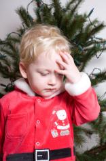 christmas santa young boy
