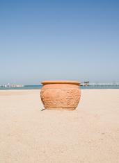 Vase in sand