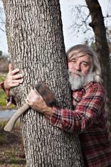 Tree Hugging Lumberjack