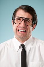 Stressed Nerdy Office Worker