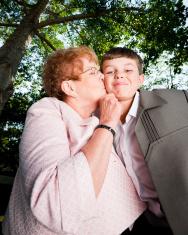 Loving Family Grandma and her Gradnson