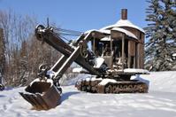 Old Mining Steam Shovel in Alaska