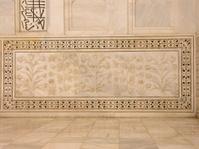 Marble panel at Taj Mahal