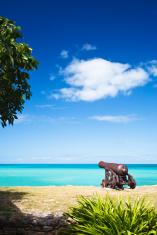 Cannon Overlooking Caribbean Sea