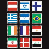 World Flag Stamps