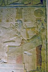 Egyptian Goddess Mut with Pharoah Seti
