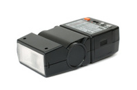 Black electronic flash