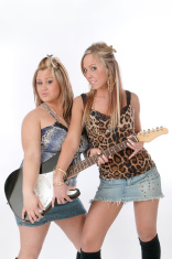 two guitar girl