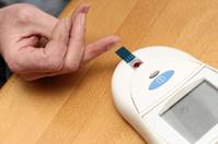 Man checked his blood sugar value - glucose test