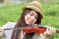 Enjoying violin music