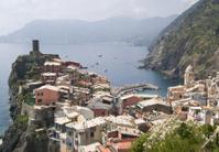 hilltop village in Cinque Terre, Italy