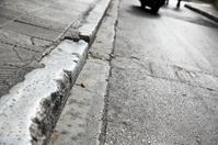 sidewalk and road