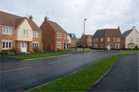 Suburban houses street