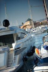 Luxury boat in Marina