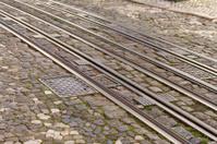 Tram car tracks, Lisbon