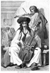 Gipsy musicians in Hungary (Victorian illustration)