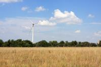 Large Wind Turbine near a country field