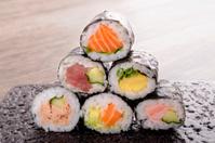 Assorted mini sushi