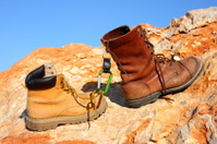 Hiking Boots and Mountain