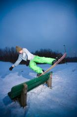 Snowboard jibbing