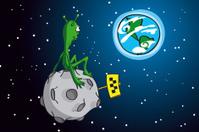 Alien on asteroid