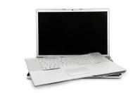 Destroyed Laptop